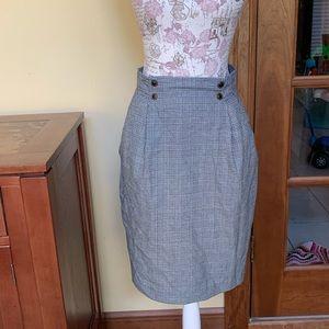 OBR Vintage Houndstooth Plaid Skirt